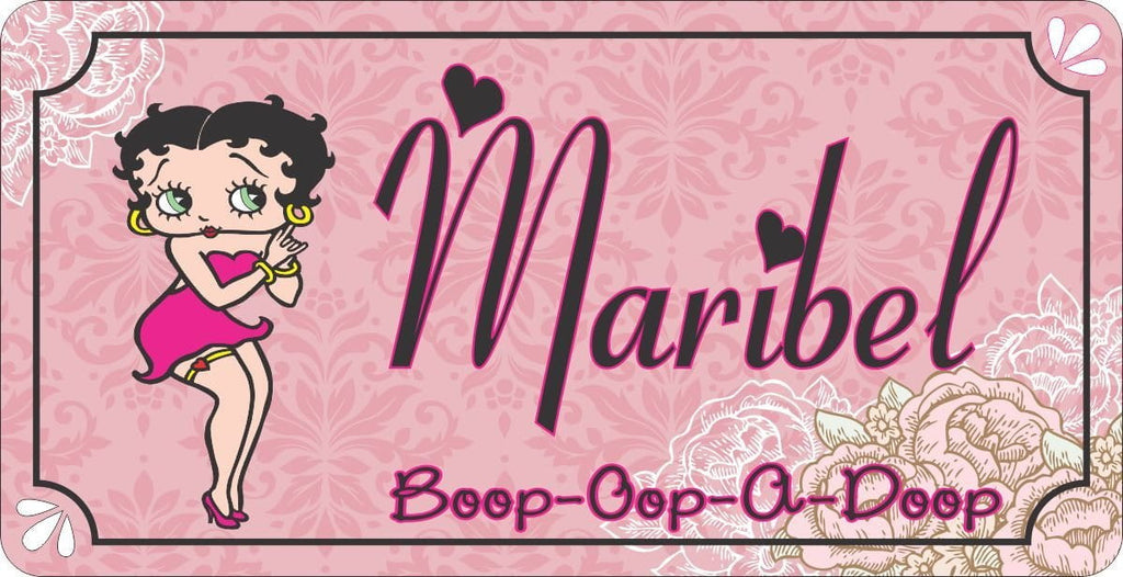 Pink Betty Boop Custom Sign for Kids