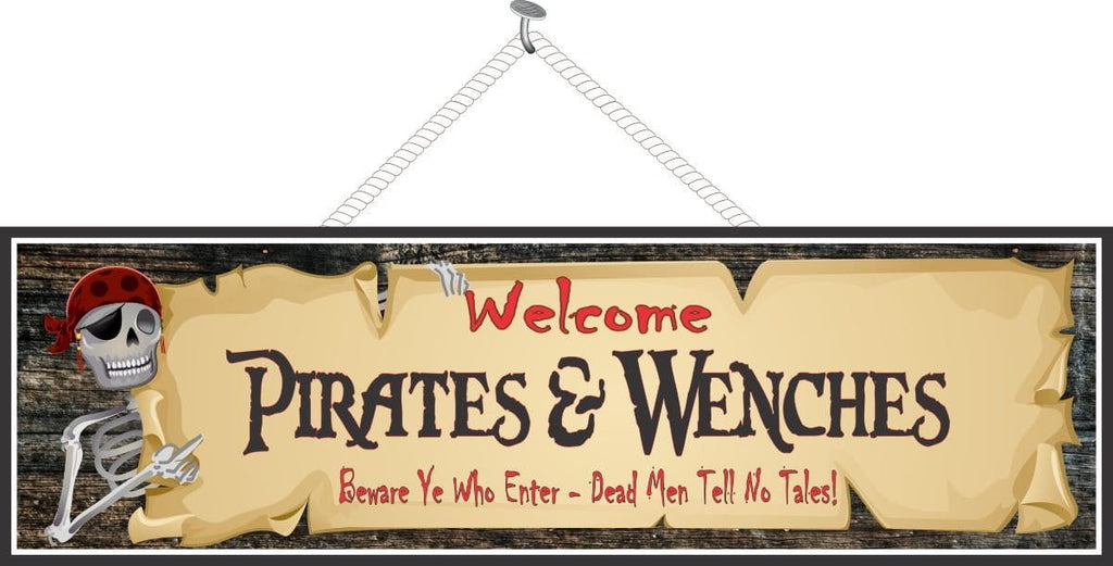 Pirate Bar Sign with Parchment Paper and Old Wood Background