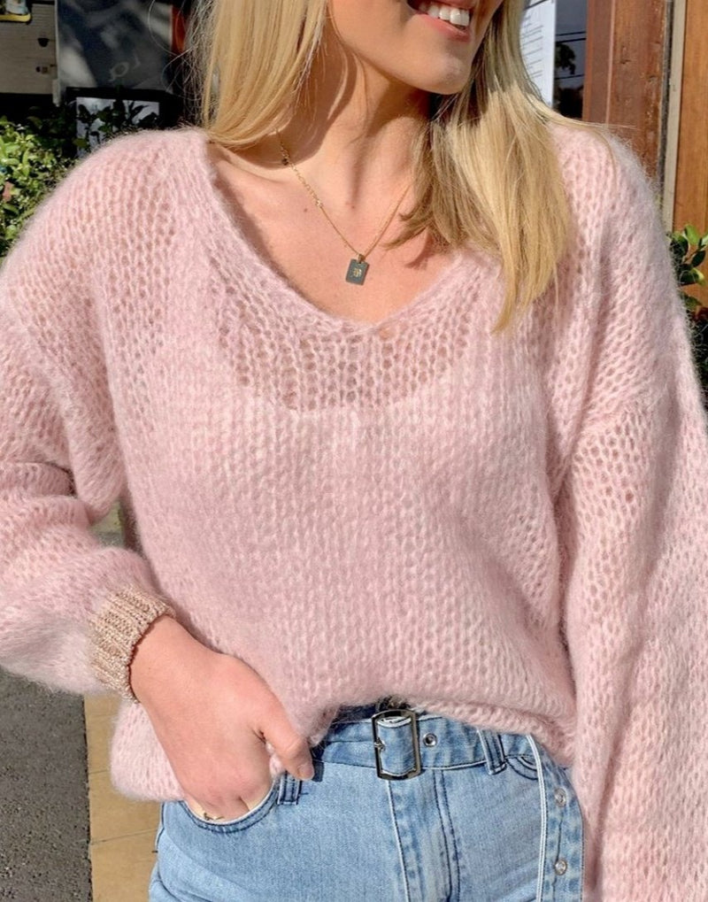 LOOSE KNIT JUMPER WITH LUREX