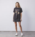 PYTHON BLOOM TEE BLACK