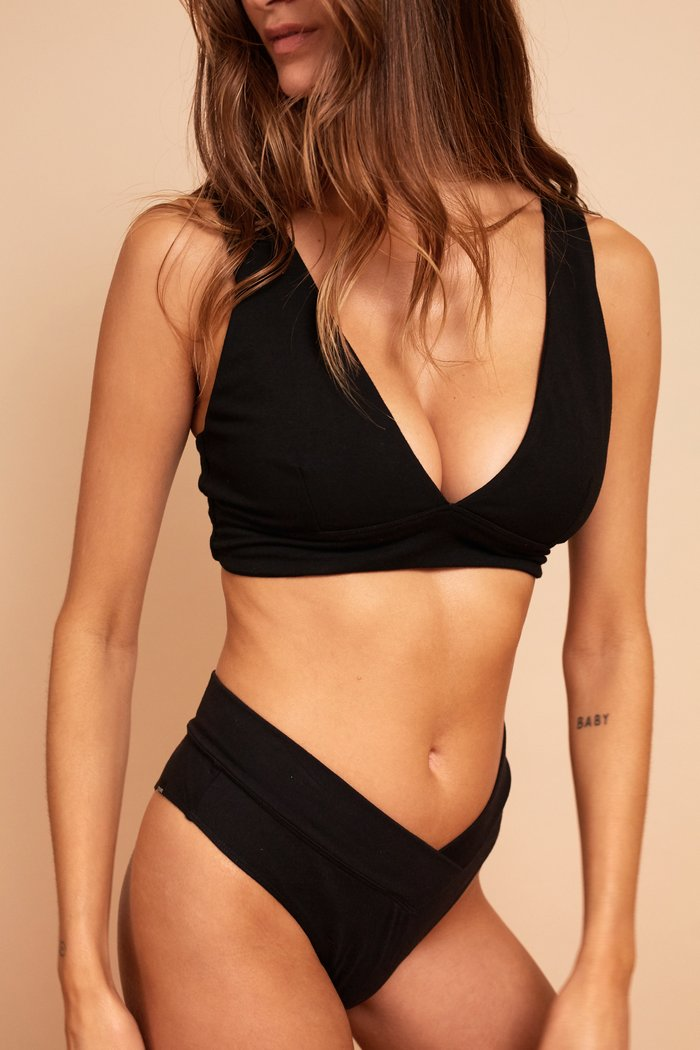 BERTA CROP TOP BLACK