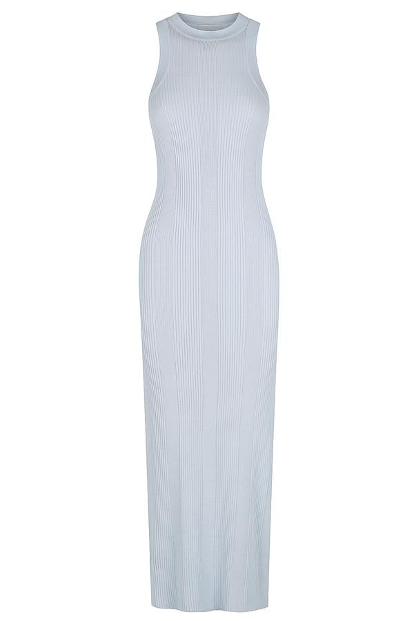 BABY BLUE RACER BACK DRESS