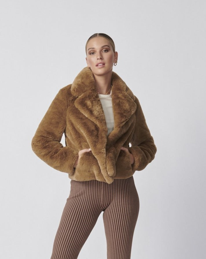 FRANKIE FAUX FUR JACKET