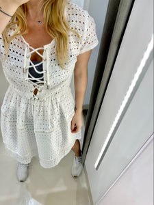 COTTON LACE DRESS.