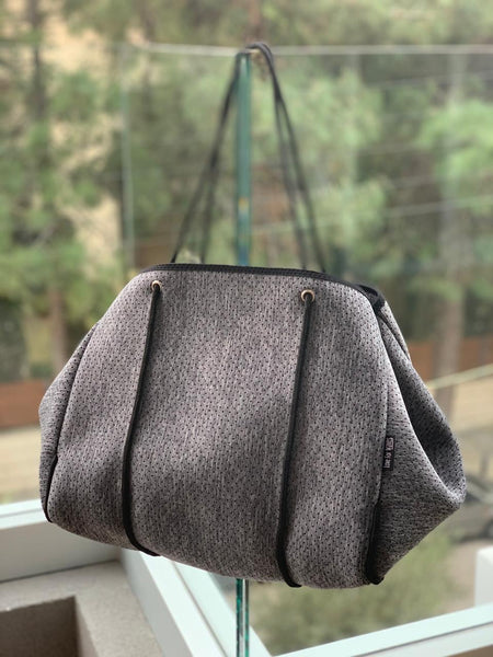 NEOPRENE TOTE BAG | GREY MELANGE
