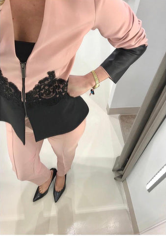 POWDER PINK JACKET.