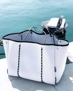 NEOPRENE TOTE BAG | WHITE