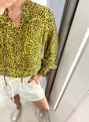 YELLOW LEOPARD PRINT TOP.