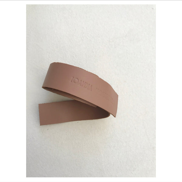 PLAIN LEATHER BELT.