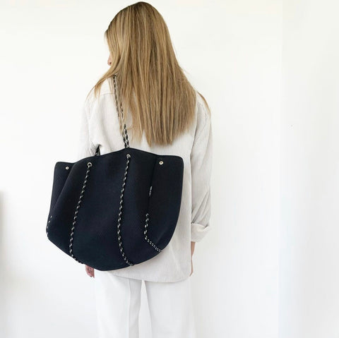 NEOPRENE TOTE BAG | BLACK
