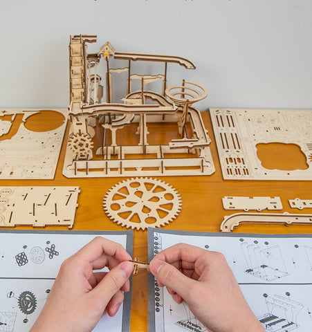 DIY 3D Wooden Marble Run Coaster
