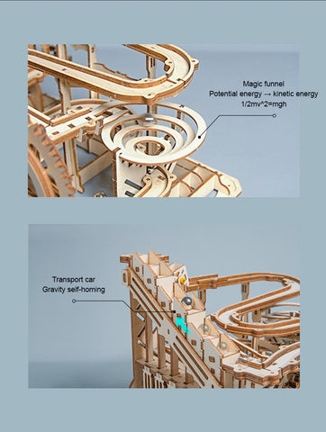 Marble Run Waterwheel Coaster