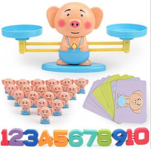 DIY Fun Toys Pig Math Balance Games Educational Toys for Kids - DFToys