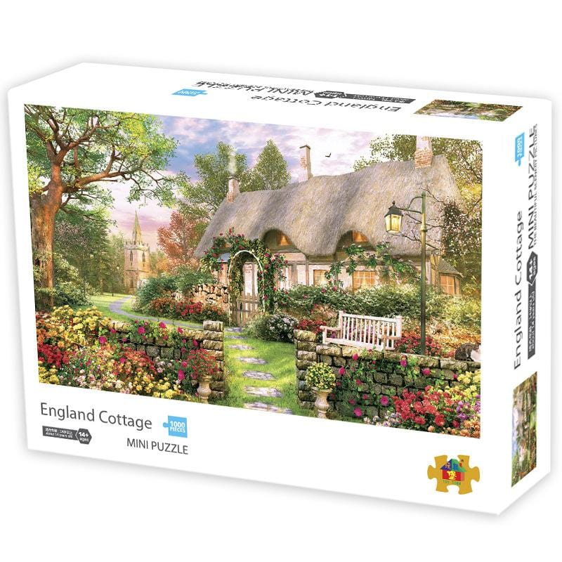 DIY Fun Toys British Cottage 1000 Mini Pieces Jigsaw Puzzle for Adults - DFToys
