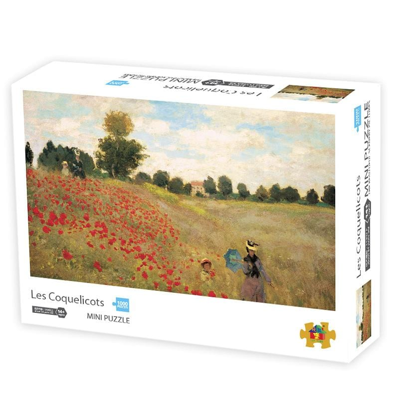DIY Fun Toys Poppy Field 1000 Mini Pieces Jigsaw Puzzle for Adults - DFToys