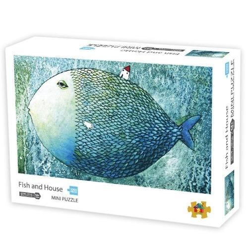 DIY Fun Toys Big Fish and Small House 1000 Mini Pieces Jigsaw Puzzle for Adults - DFToys