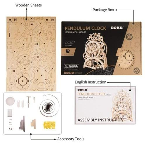 Pendulum Clock Mechanical Building Kits - DFToys