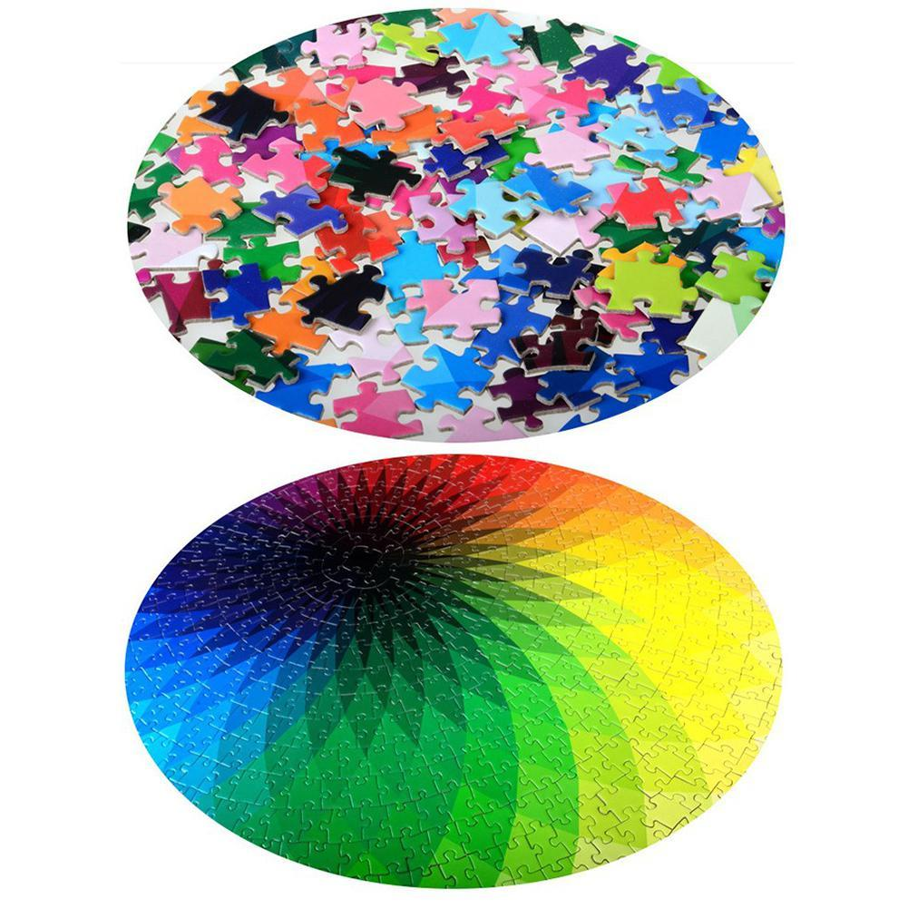 DIY Fun Toys 1000 Pieces Rainbow Jigsaw Puzzle for Adults - DFToys