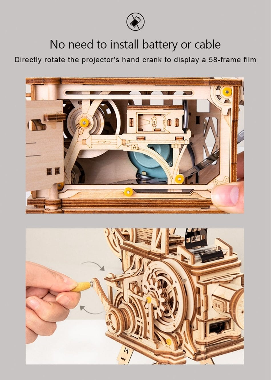 Film Projector Mechanical Building Kits - DFToys