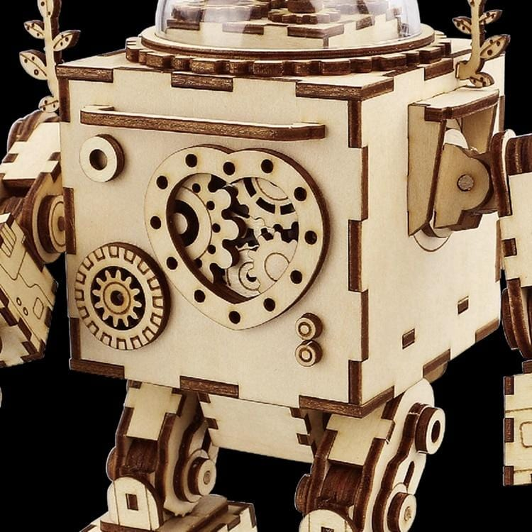 Robot Music Box Wooden Puzzle - DFToys