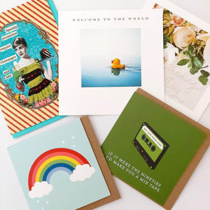 A selection of five greeting cards