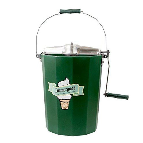 Image of PREMIUM 6 qt. - Immergood Stainless Steel Ice Cream Maker - Hand Crank-KITCHEN-Homeplace Market Wagon