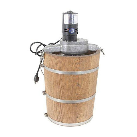 Image of 6 qt Country Ice Cream Maker - Classic Wooden Tub - Country Electric Motor-SMALL_HOME_APPLIANCES-Homeplace Market Wagon