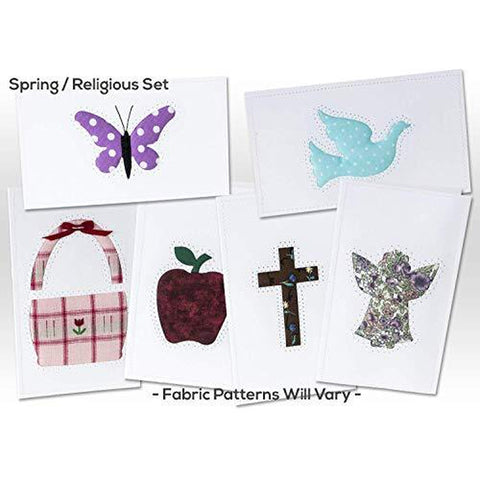 Note Cards, SPRING/RELIGIOUS, Hand Sewn, (5 Pack Assorted)