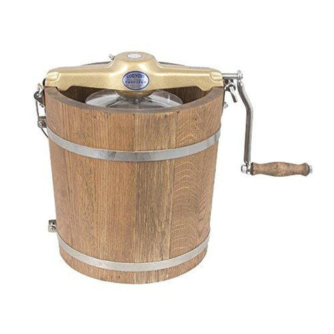 Image of 4 qt Country Ice Cream Maker - Classic Wooden Tub - Hand Crank-SMALL_HOME_APPLIANCES-Homeplace Market Wagon