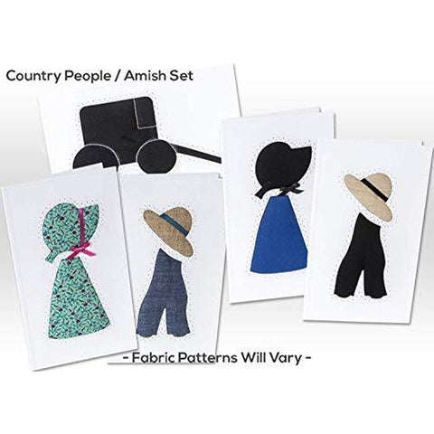 Note Cards, COUNTRY PEOPLE/AMISH, Hand Sewn, (5 Pack Assorted)