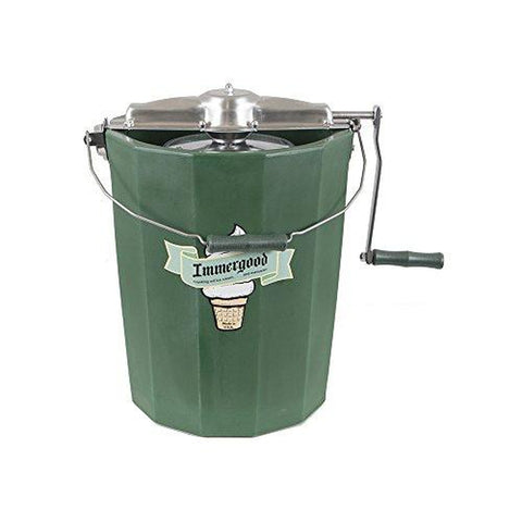 PREMIUM 8 qt. - Immergood Ice Cream Maker - Stainless Steel - Hand Crank-KITCHEN-Homeplace Market Wagon