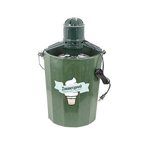 Immergood - Electric - 6 qt. - Old Fashioned Ice Cream Maker w/Motor-KITCHEN-Homeplace Market Wagon