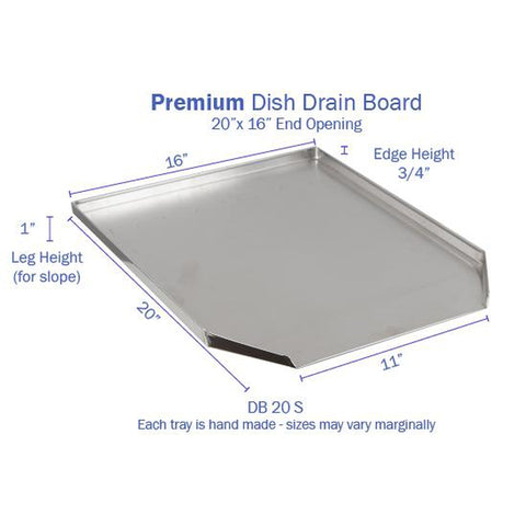 Hickoryware - Stainless Steel Dish Drain Board (End Opening)-KITCHEN-Homeplace Market Wagon
