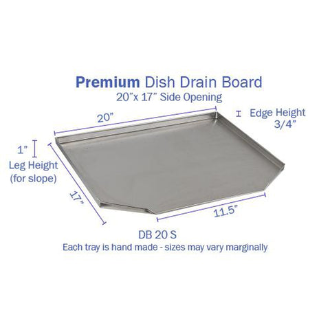 Image of Hickoryware - Stainless Steel Dish Drain Board (Side Opening)-KITCHEN-Homeplace Market Wagon