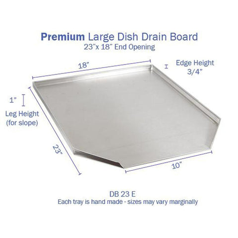 Hickoryware - Stainless Steel LARGE Dish Drain Board-KITCHEN-Homeplace Market Wagon