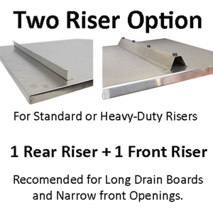 Hickoryware - CUSTOM - BUILT TO ORDER - Stainless Steel Built-to-Order Dish Drain Board-KITCHEN-Homeplace Market Wagon