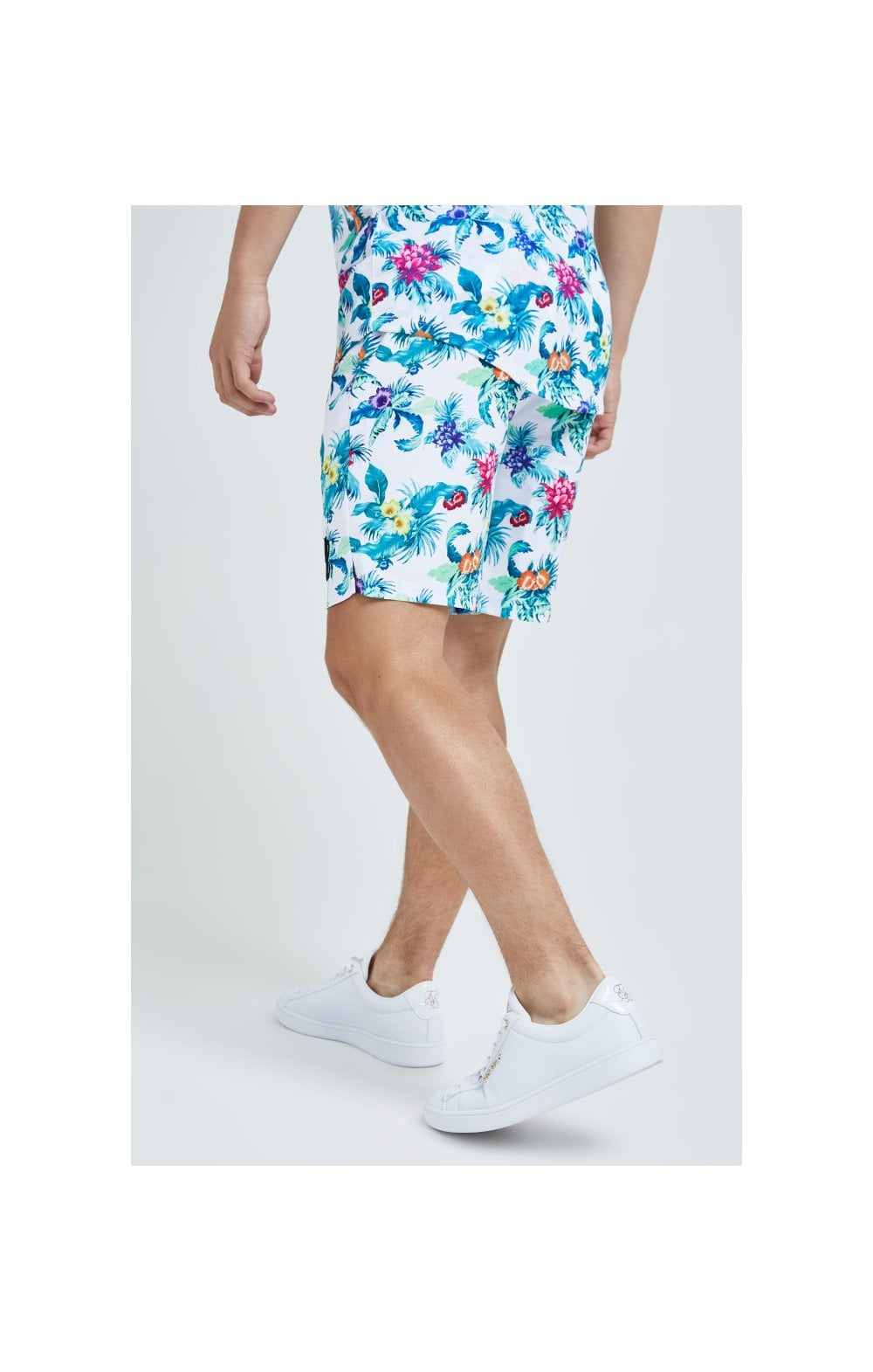 Illusive London Swim Shorts - White & Floral (4)