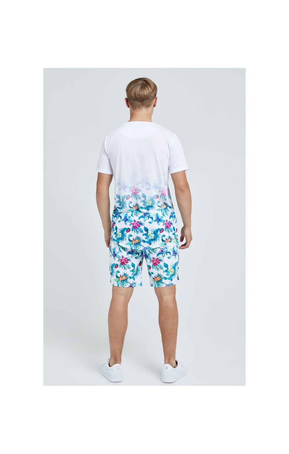 Illusive London Swim Shorts - White & Floral (8)
