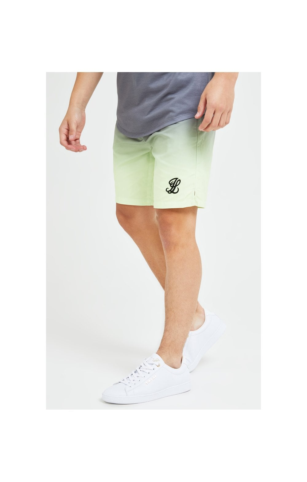 Illusive London Blaze Swim Shorts - Lime & Dark Grey