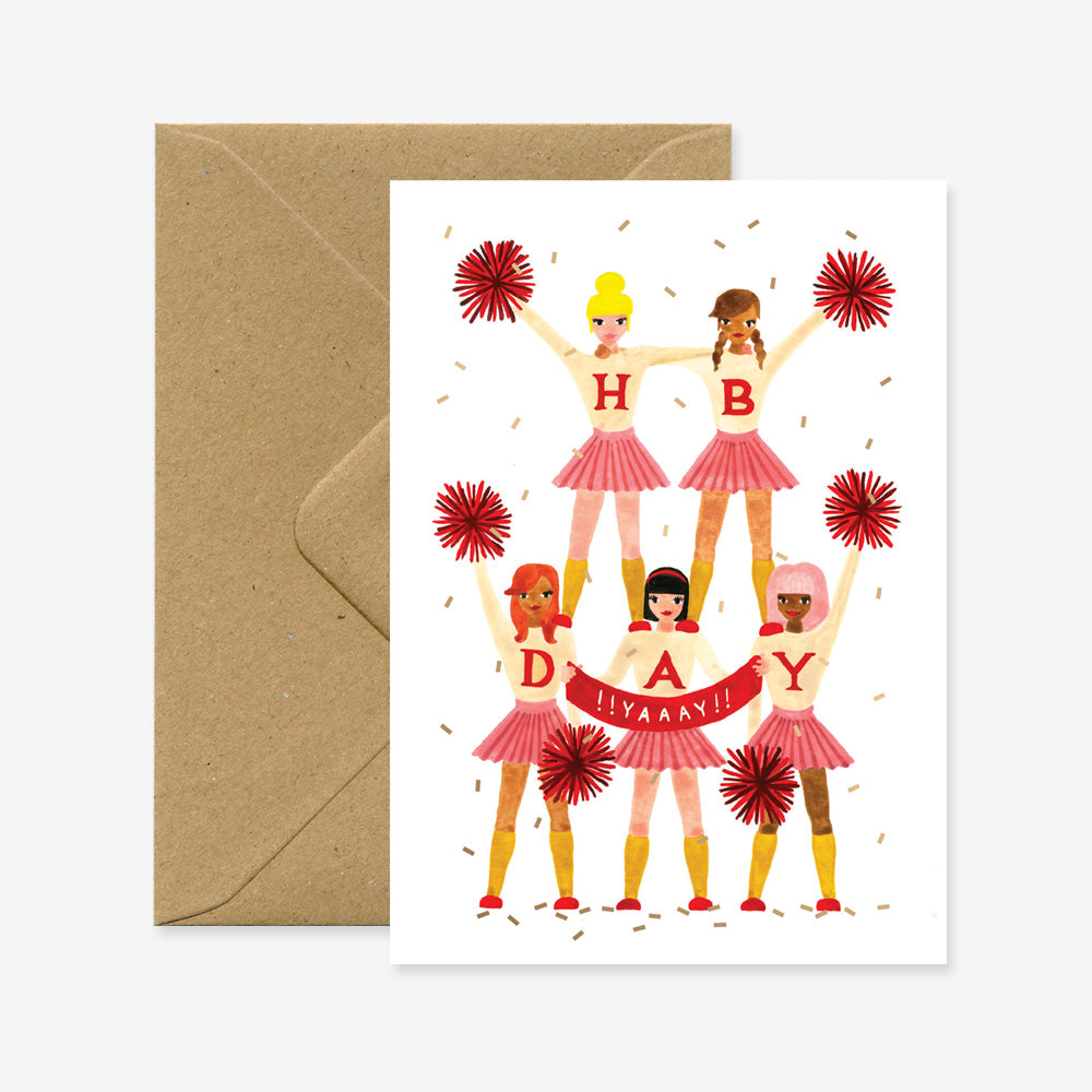 Carte d'Anniversaire Cheerleaders