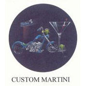 Custom Martini Michael Godard Neon Clock (blue)