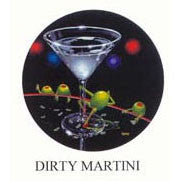Dirty Martini Michael Godard Neon Clock (red)