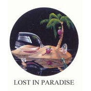 Lost In Paradise Michael Godard Neon Clock (green)