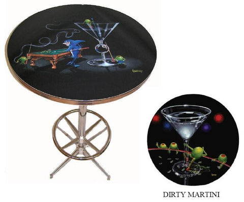 Bar Table - Dirty Martini
