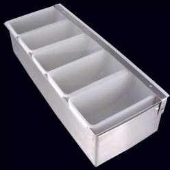 Condiment Holder/ Fruit tray Stainless Steel