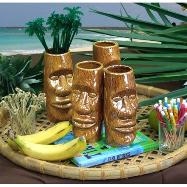 Ceramic Tiki Brown Eastern Islander Mug - 14 ounce