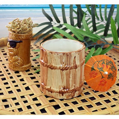 12 ounce Ceramic Rum Barrel Tiki Mug