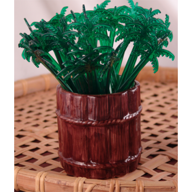 Green Palm Tree Stirrers (Pack of 200)
