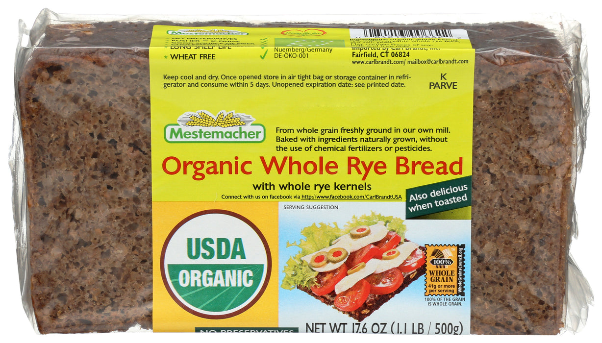 Mestemacher Organic Whole Rye Bread