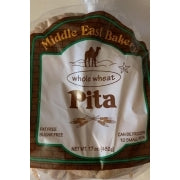 Middle East Bakery Whole Wheat Pita Bread, Medium